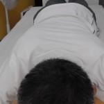 横浜市泉区にあるあきば整体院の院長の側弯症の歪みの写真頭部から